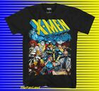 New Marvel Comics X-Men Cast Black Mens Vintage T-Shirt image