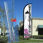 Wedding Dresses Windless Feather Banner Flag with Bundle Option (2.5 x 11.5 Feet