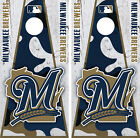 Milwaukee Brewers Cornhole Wrap MLB Decal Vinyl Camouflage Board Skin Set YD01 on Ebay