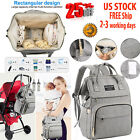 Diaper Bag Backpack Nappy Bags  Insulated Pockets  Multi-functional Travel  USB