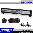 "22""INCH 1200W LED LIGHT BAR SPOT FLOOD COMBO For Offroad Suv Ford LAMP 24"" 20"""