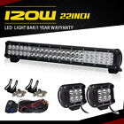 "22inch 120W COMBO FLOOD SPOT LED Light Bar Driving FOR SUV Lamp 32"" 180w Lamp"