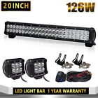 20INCH 126W Led Light Bar Flood Spot Work Driving fit 4WD Truck Atv UtE