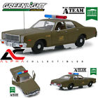 "PRESALE GREENLIGHT 19053 1:18 1977 PLYMOUTH FURY US ARMY POLICE CAR ""A TEAM"""