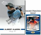 ALBERT ALMORA 2012 Leaf Rize Mini Emerald BLUE Blank Back PRODIGY RC 1/1