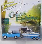 JOHNNY LIGHTNING GONE FISHING S1 1965 CHEVY TRUCK with BOAT & TRAILER A 1/2,004