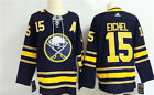 New Mens Buffalo Sabres 15 Jack Eichel Navy Home Hockey Jersey