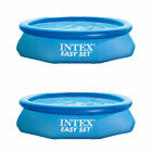 """Intex 10' x 30"""" Easy Set Above Ground Inflatable Pool, Filter, & Pump (2 Pack)"""