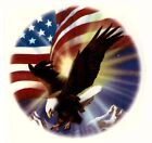 Soaring Eagle American Flag Select-A-Size Waterslide Ceramic Decals Xx image