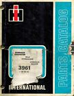 INTERNATIONAL  VINTAGE 3961 HYDRAULIC EXCAVATOR  PARTS CATALOG