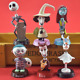 6pcs/set New The Nightmare Before Christmas Jack Sally Zero PVC Toys Action Doll