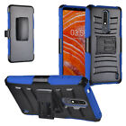 For Nokia 3.1 Plus (Cricket) Hybrid Holster Combo Case SP0