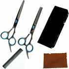 PROFESSIONAL BARBER HAIRDRESSING SCISSORS THINNING HAIR CUTTING SHEARS SET+ CASE