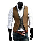Men's Formal Business Casual Dress Vest Suit Tuxedo Slim Fit Waistcoat Coat Tops