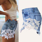 Women High Waisted Short Mini Jeans Denim Ripped Summer Casual Shorts Hot Pants