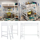 HEAVY DUTY SOLID PINE HIGH SLEEPER BUNK KID BED 3FT SINGLE BED FRAME WITH LADDER