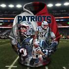New England Patriot Hoodie 3D Sweatshirt Pullover Football Champion NFL Gift