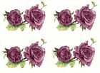 Burgundy Pink Rose Duo Flowers Select-A-Size Waterslide Ceramic Decals Bx image