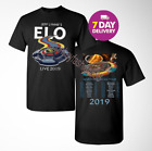 Jeff Lynnen ELO tour 2019 T-Shirt full Size Men Black 2 Side Shirt Gildan. image