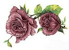 Pink Rose Duo Flowers Select-A-Size Waterslide Ceramic Decals Bx image