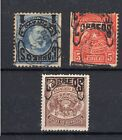 CHILE Telegraph INVERTED DOUBLE overprint FAKES ONLY FOR REFERENCE 4 COPIES