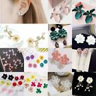 Fashion Women Flower Peony Stud Earrings Wedding Drop Dangle Party Jewelry Gift