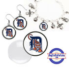 FREE DESIGN > DETROIT TIGERS -Earrings, Pendant, Bracelet, Charm <FAST SHIP> on Ebay