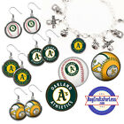 FREE DESIGN > OAKLAND A'S -Earrings, Pendant, Bracelet, Charm <FAST SHIP> on Ebay