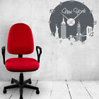Style and Apply New York Wall Clock Wall Decal