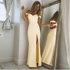 Womens Ball Prom Gown Elegant Long Dress Bodycon Off Shoulder Bridesmaid Dresses