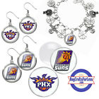 FREE DESIGN > PHOENIX SUNS -Earrings, Pendant, Bracelet, Charm, Cabs <FAST SHIP> on eBay
