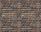 !  8 SHEETS EMBOSSED BUMPY BRICK stone wall 21x29cm SCALE 1/12 CODE 401SV77