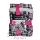 New Cuddl Duds Plush Velvet Throw Blanket with Sherpa Lined Foot Pocket 60 x 70  image