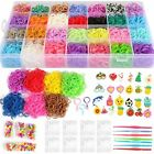 17,000 Rainbow Loom Rubber Bands Refill Set Storage Case Organizer Beads Clips
