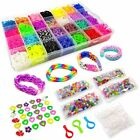 Rainbow Loom Rubber Bands Refill 10000 Pc Set Storage Case Organizer Beads Clips