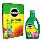 Miracle-Gro All Purpose Enriched Compost 40L Pour Feed Plant Food 1L Fertiliser