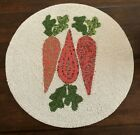 Cynthia Rowley CARROTS Easter GLASS BEADED PLACEMAT CHARGER Gorgeous SHABBY NWT