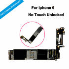 100% Original Motherboard Not Locked NO Touch ID Full Chips For Phone 6 Unlocked