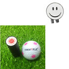 Golf Ball Marker with Detachable Hat Visor Clip with Ball Stamper Stamp
