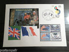 FDC FRANCE PREMIER DAY 6.4.2004, TP 3657, AGREEMENT CORDIAL 5 GB FLAGS, FLAGS