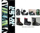 "NEW SNOWJAM 540 ""SURF"" SNOWBOARD, BINDINGS, BOOTS PACKAGE - 149cm"