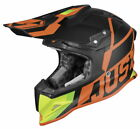 Just1 J12 Unit Carbon Offroad Helmet - Red/Lime - L