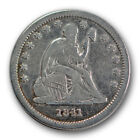 1841 25C Liberty Seated Quarter Very Fine VF Low Mintage Tough Date R1235