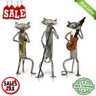 Playing Guitar Singing Cat Figurine Furnish Articles Craft Gift Home Decoration