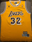 Vintage Magic Johnson #32 Los Angeles Lakers Classic Throwback Jersey Men's Gold