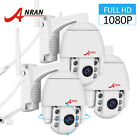 Security Camera System Wireless PTZ 1080P 4xZoom Outdoor Two way Audio IP66 Kit