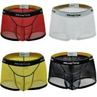 US Sexy Men See-through Boxer Briefs Sheer Mesh Pouch Underwear Panties Lingerie