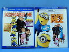 Despicable Me & Depicable Me 2 (Two Blu-rays & DVDs with Slipcovers) LIKE NEW
