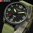 CURREN Mens Watches Leather Fashion Business Quartz Date Week Display Wristwatch image