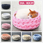Washable Handmade Knitting Pet Cat Dog Bed Sleeping Puppy Cushion Kennel